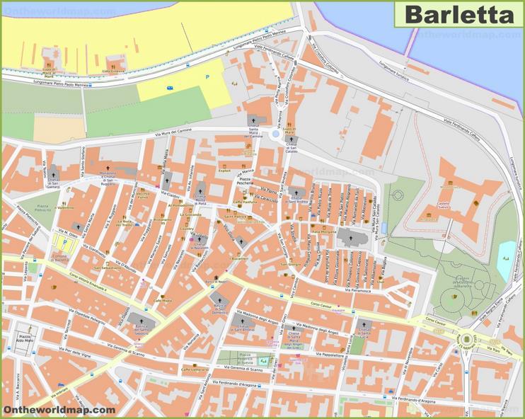 Barletta Old Town Map