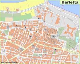 Barletta Old Town Map