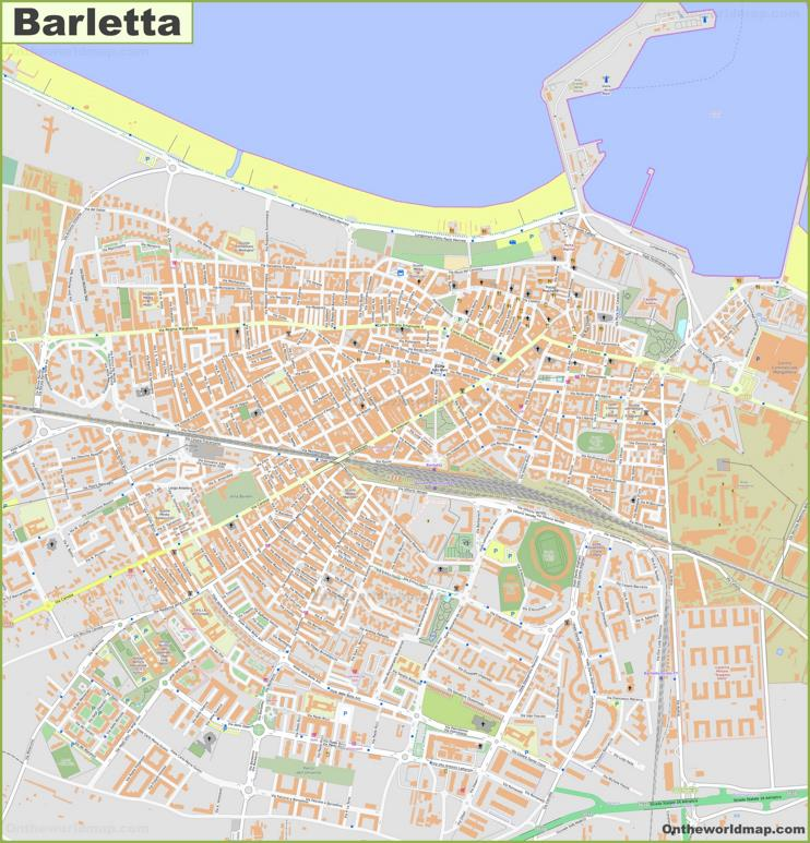 Detailed Map of Barletta