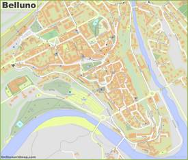 Belluno Old Town Map