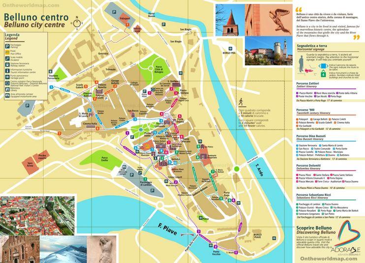Belluno Tourist Map