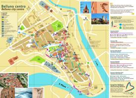 Belluno Tourist Map