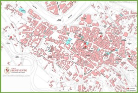 Benevento tourist map
