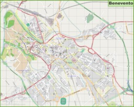 Large detailed map of Benevento