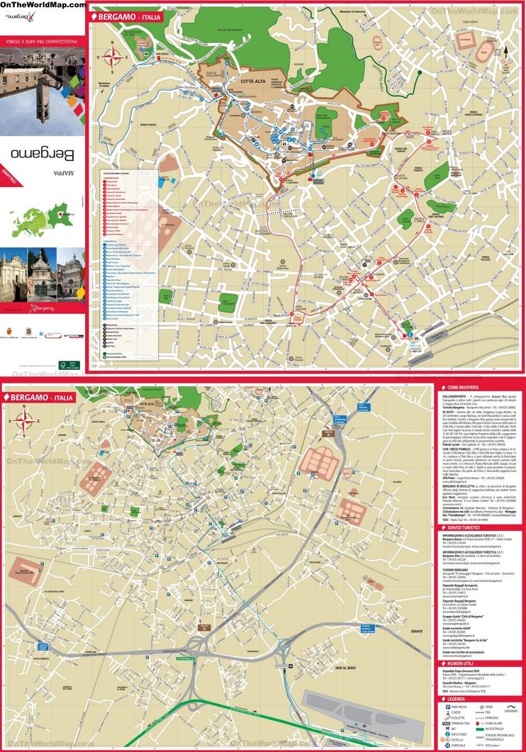 Bergamo Maps Italy Maps of Bergamo
