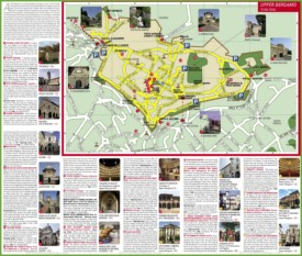 Upper Bergamo sightseeing map