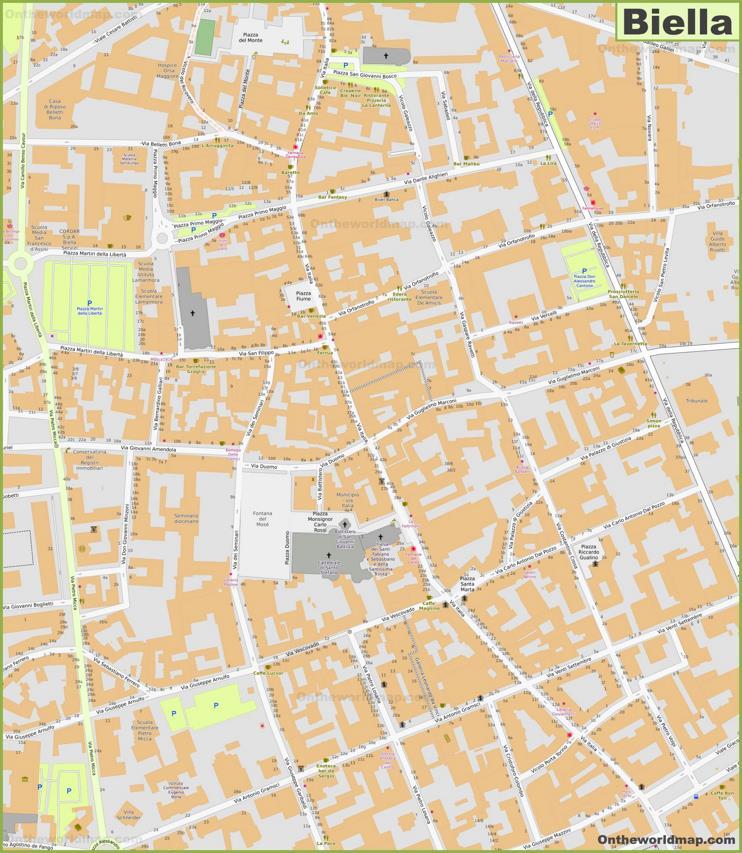Biella Old Town Map
