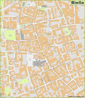 Biella Old Town Map