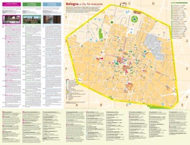 Bologna city centre map
