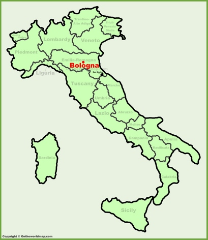 Bologna Location Map