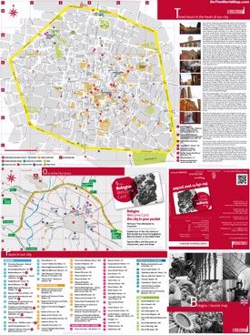 Bologna tourist attractions map