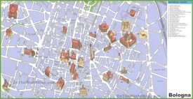 Bologna travel map