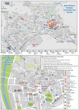 Bolzano hotel map