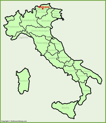 Bolzano Location Map