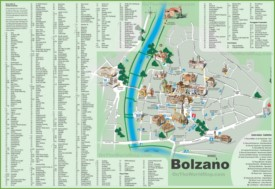 Tourist map of Bolzano city centre