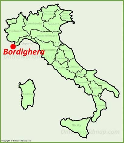 Bordighera Location Map