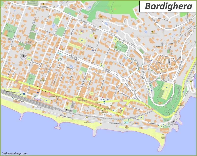 Bordighera Town Center Map