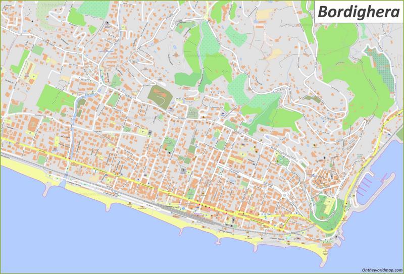 Map of Bordighera