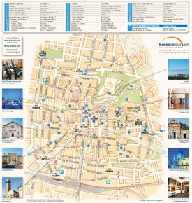 Brescia tourist attractions map