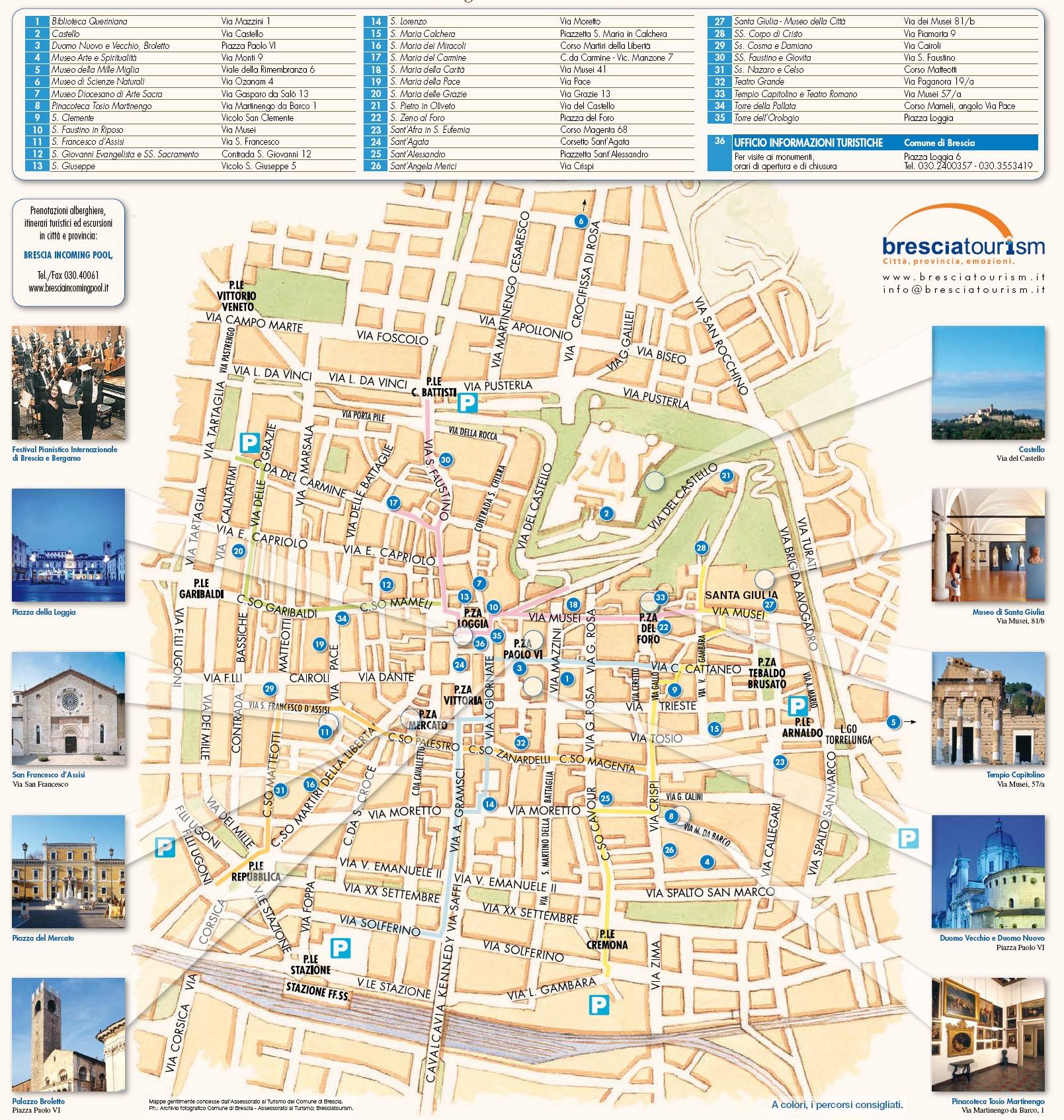 Brescia tourist attractions map