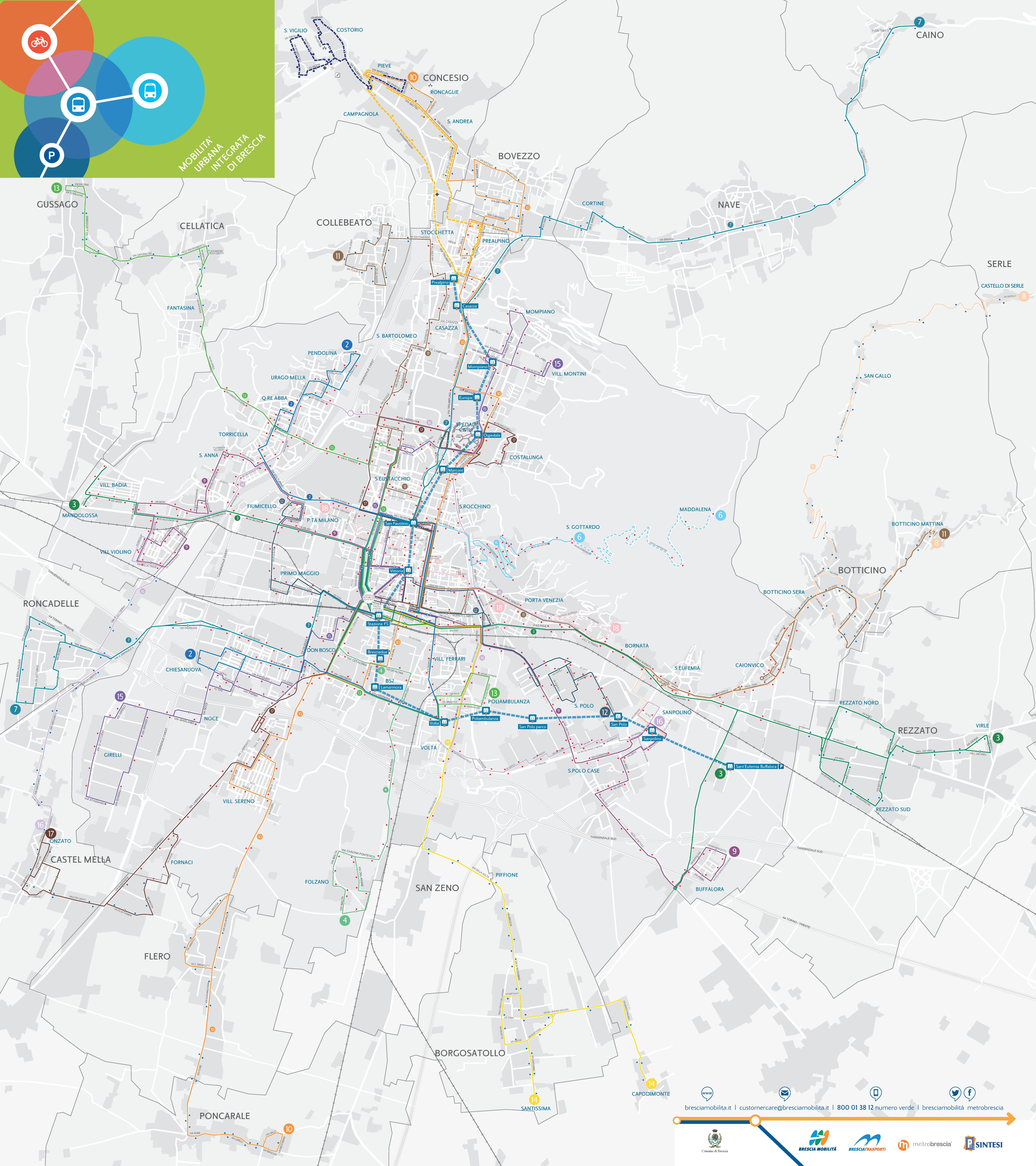 Brescia transport map