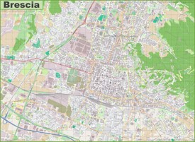 Large detailed map of Brescia
