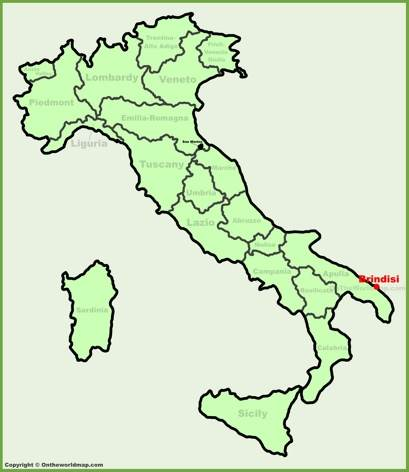 Brindisi Location Map