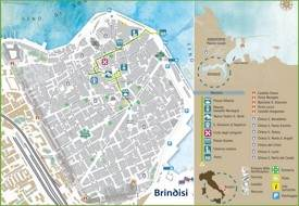 Brindisi sightseeing map