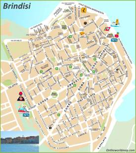 Brindisi tourist map
