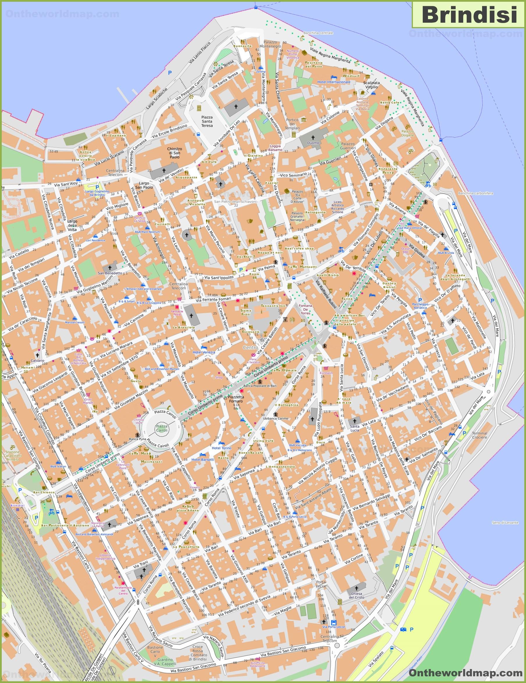 Cartina Italia Brindisi.Brindisi Mappa Italia Mappe Di Brindisi