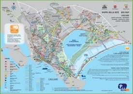 Cagliari transport map