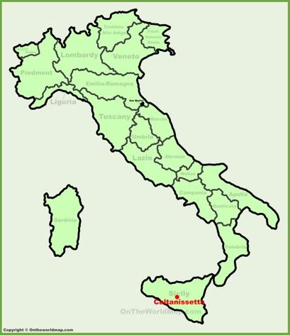 Caltanissetta Location Map