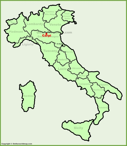 Carpi Location Map