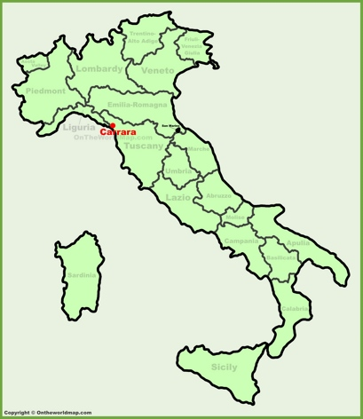 Carrara Location Map