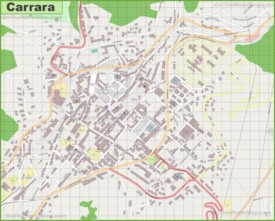 Large detailed map of Carrara