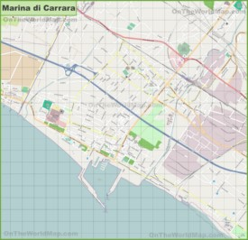 Map of Marina di Carrara