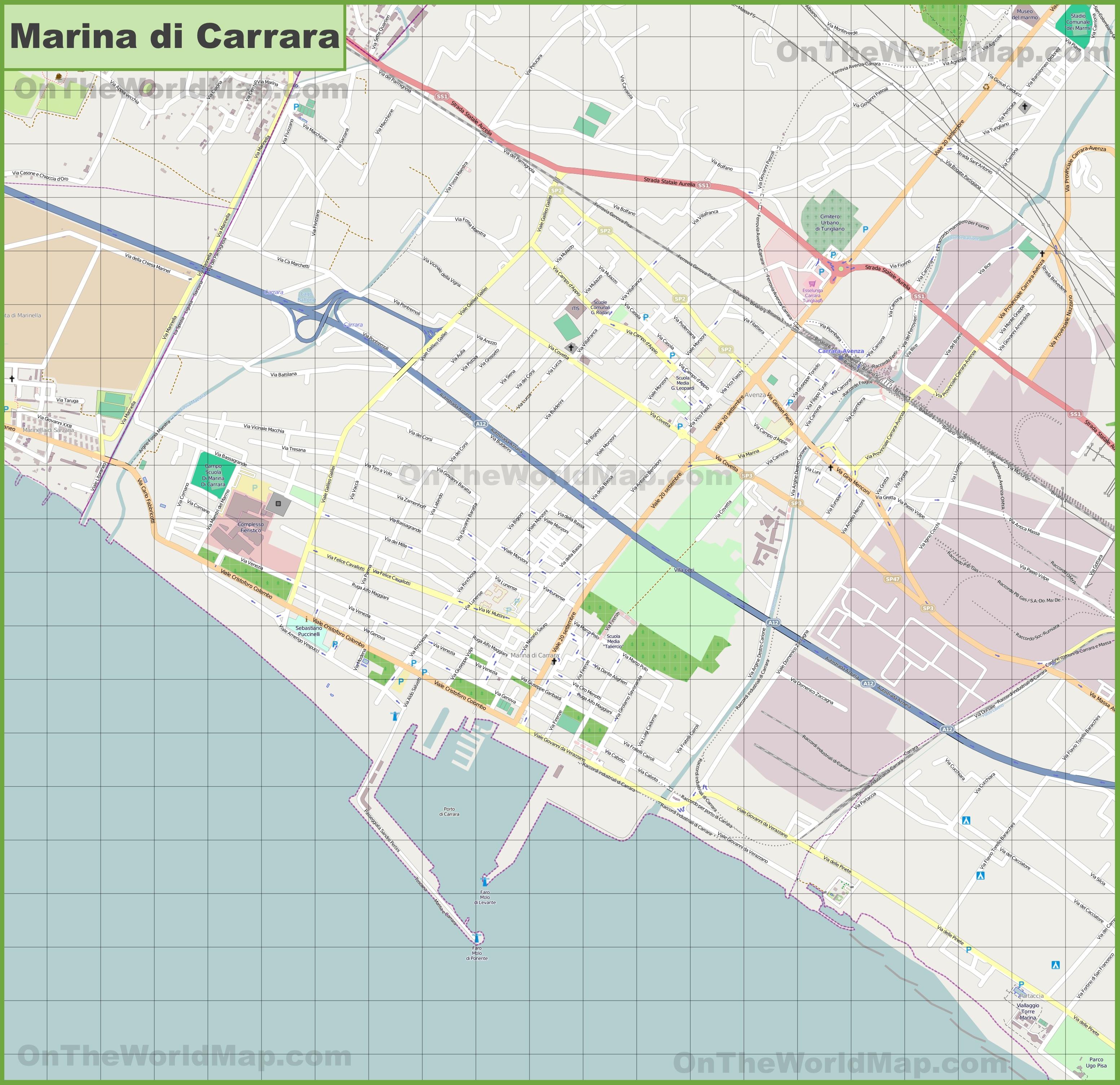 Map of Marina di Carrara