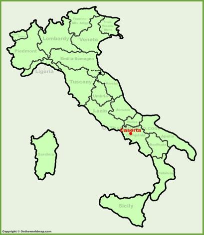 Caserta Location Map