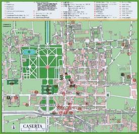Caserta tourist map