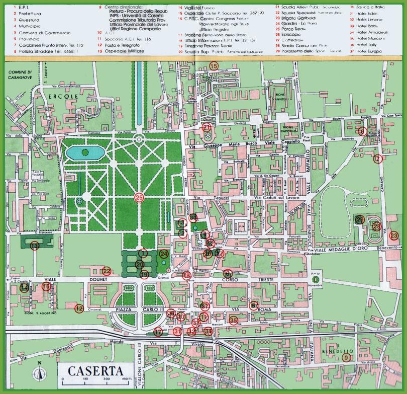 Caserta Maps Italy Maps of Caserta