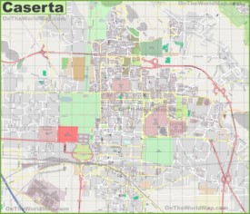 Large detailed map of Caserta