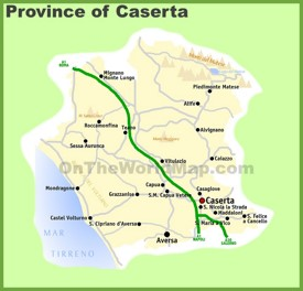 Province of Caserta map