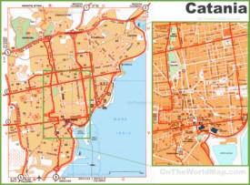 Catania tourist map