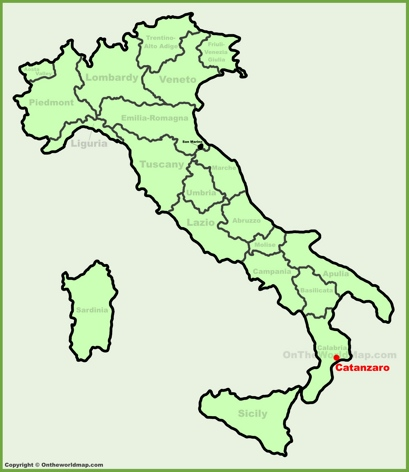 Catanzaro Location Map