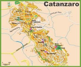 Catanzaro tourist map