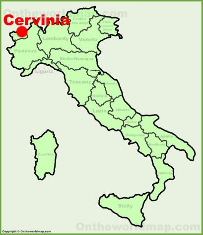 Cervinia Location Map