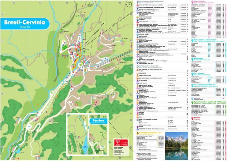 Cervinia Tourist Map