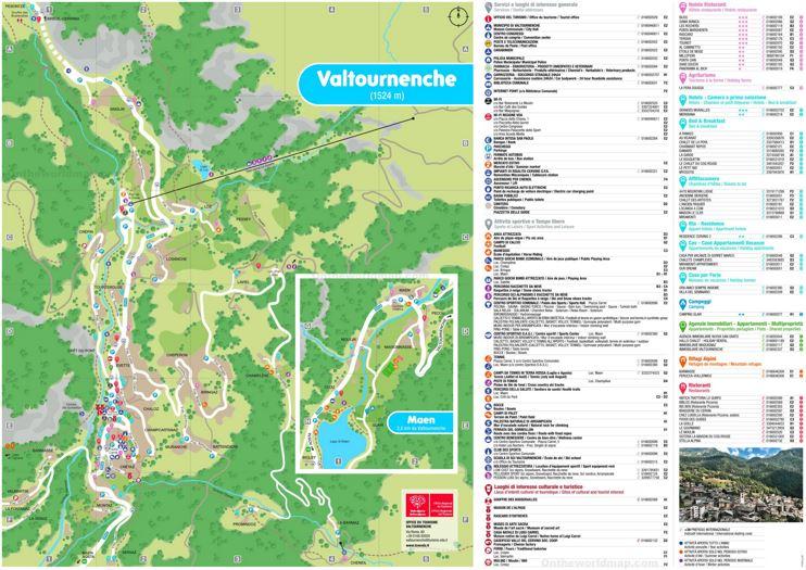 Valtournenche Tourist Map
