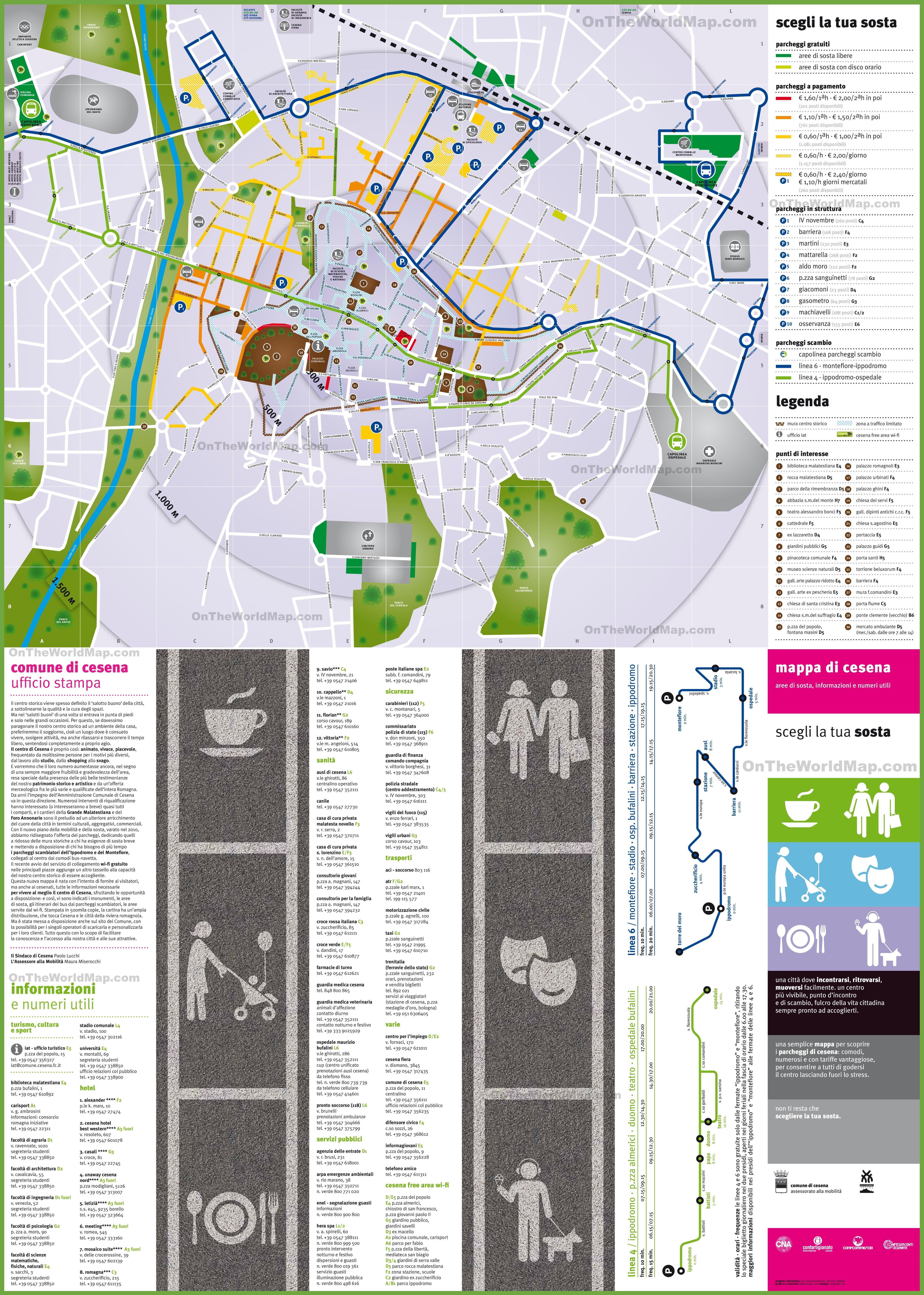 Cesena tourist map