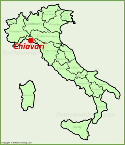 Chiavari Location Map